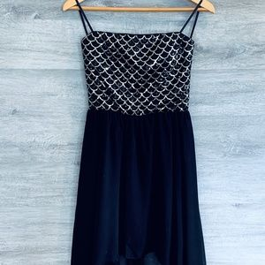 Mermaid Sequin Dress Hi/Low Hem
